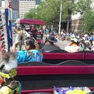 Downtown parade wagon ride